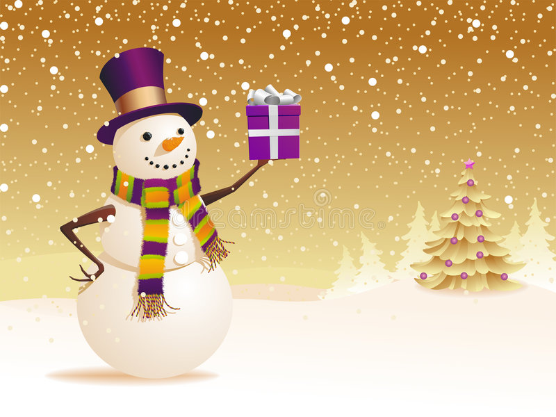 snowman royaltyfri illustrationer