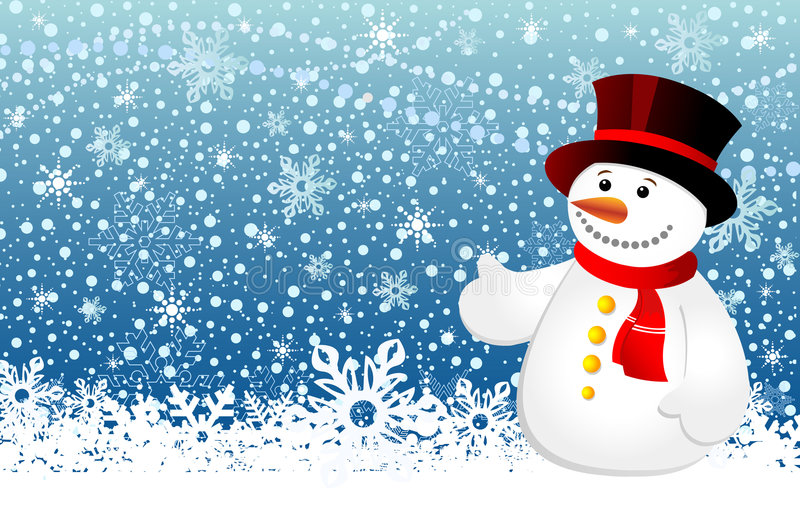 Download Snowman stock vector. Image of snowball, snowflake, cold - 7610690