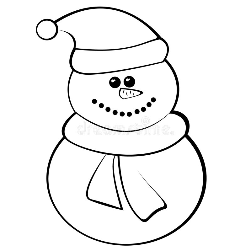 Snowman. Funny snowman. winter and christmas.Illustration royalty free illustration