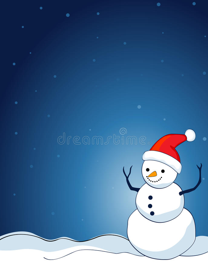 Snowman background vector illustration