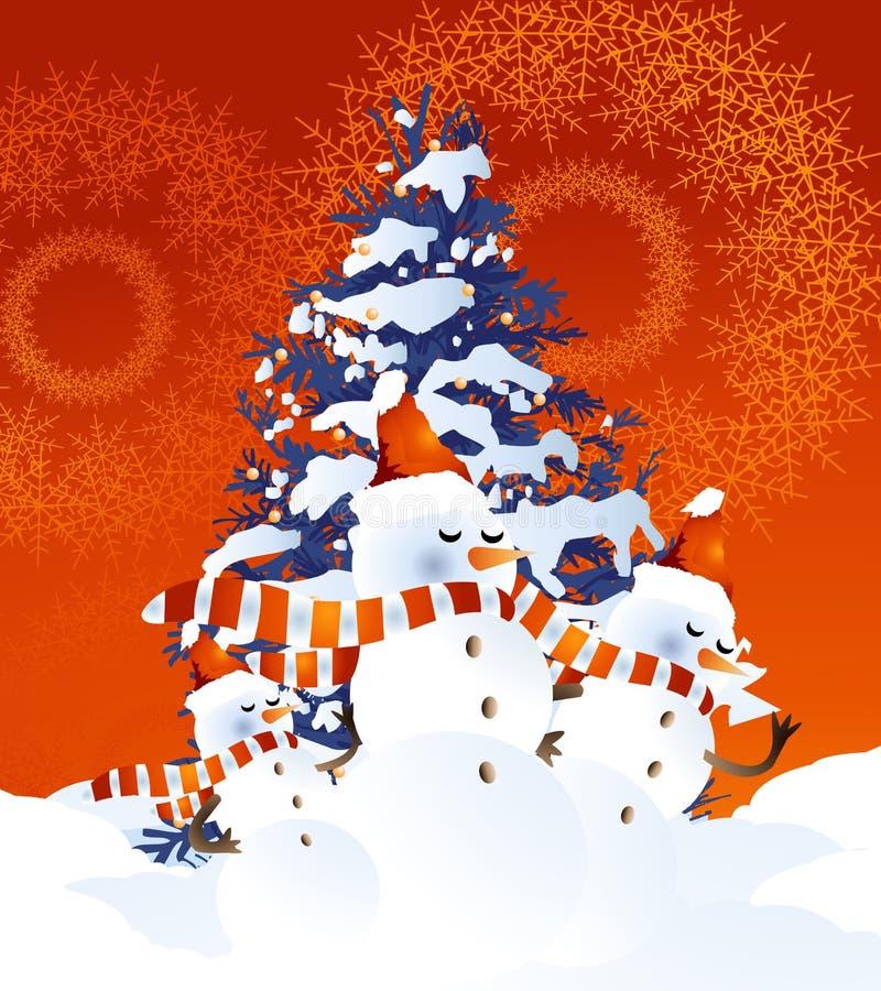 Snowman Background royalty free illustration