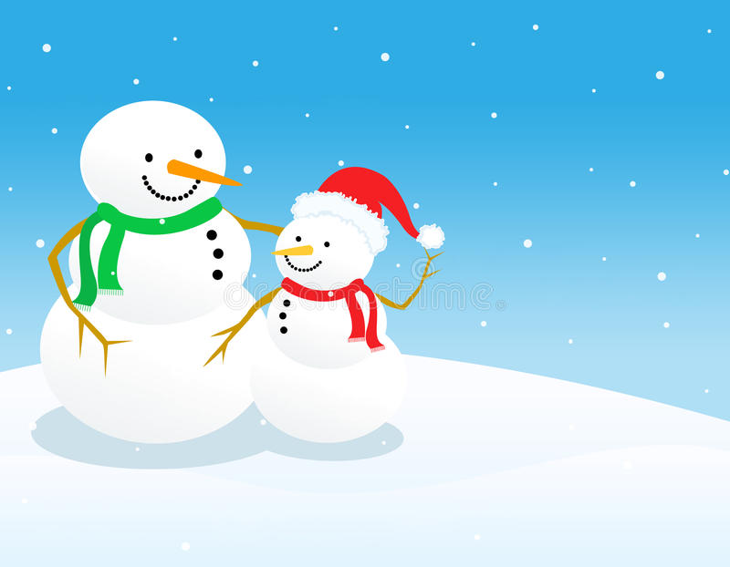 Snowman background
