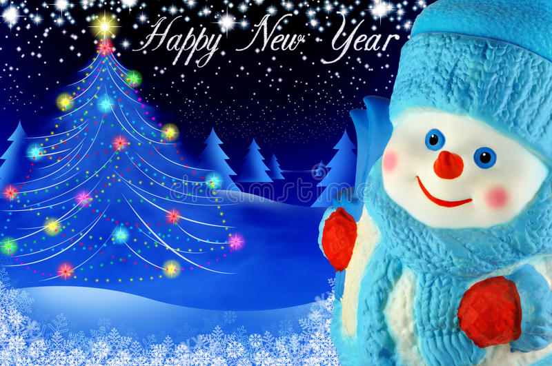 Download Snowman stock photo. Image of light, background, tale - 36242224