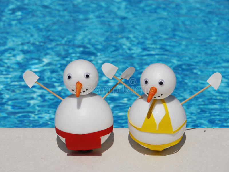 Download Snowman beach vacation stock image. Image of frosty, resort - 27327027