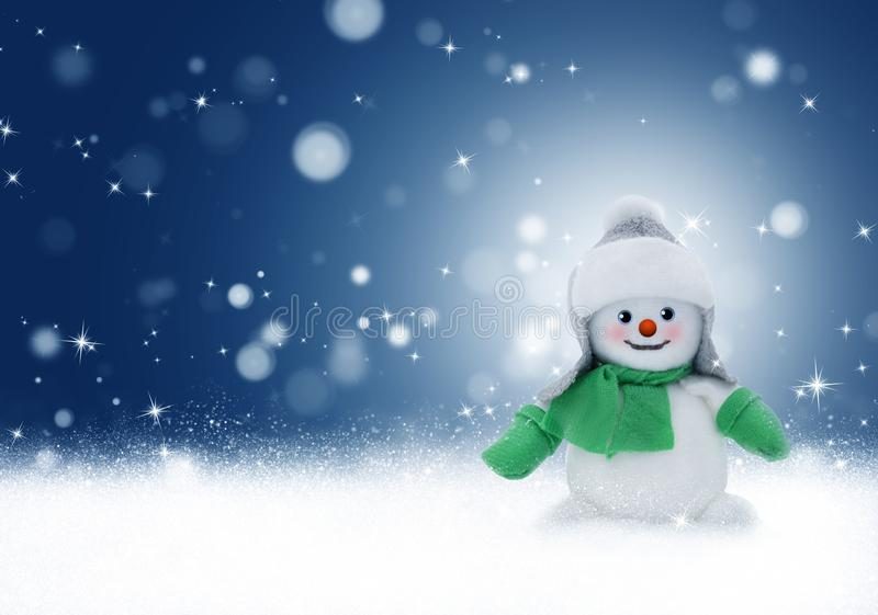 Snowman, Blue, Sky, Winter royalty free stock photography