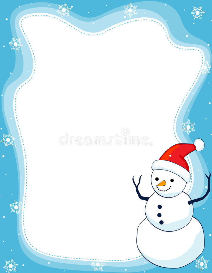 Download Snowman border / frame stock vector. Image of decorative - 11224386