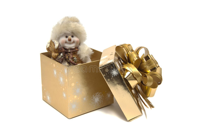 Download Snowman in the box stock image. Image of object, present - 28128899