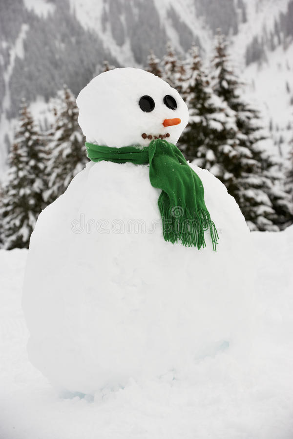 Download Snowman Built In Alpine Location Stock Photo - Image: 25644700