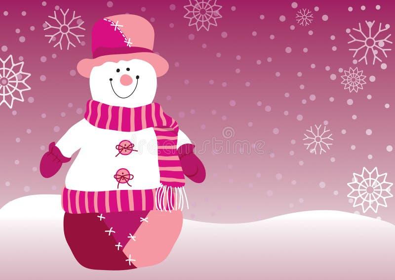 Snowman Christmas stock illustration