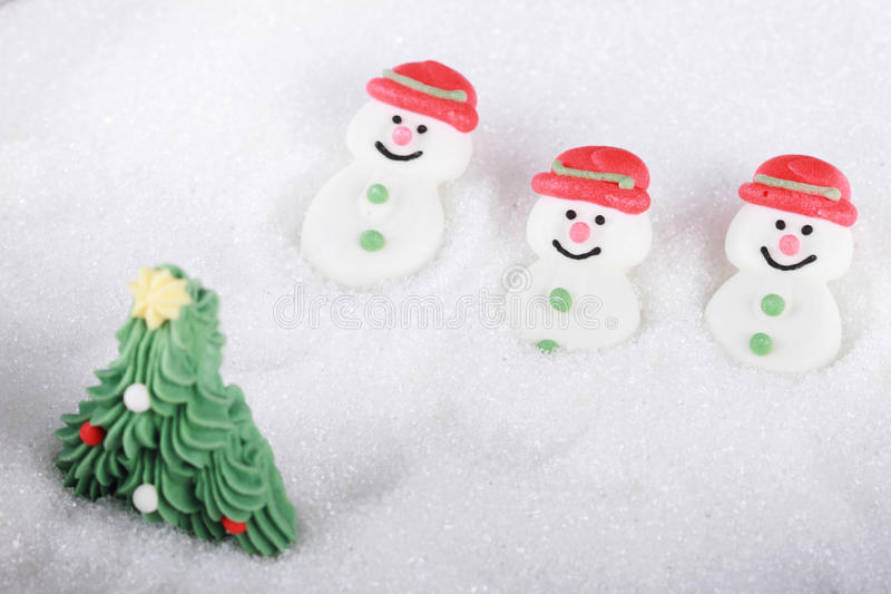 Sugar snowman royalty free stock image
