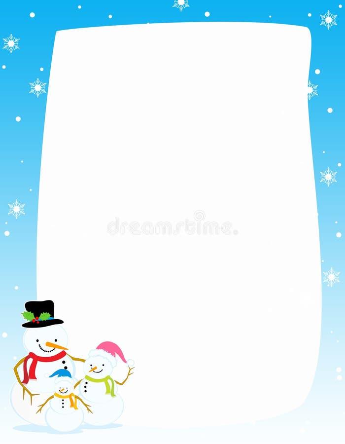 Free Snowman Christmas / Winter Border Royalty Free Stock Photography - 6809827