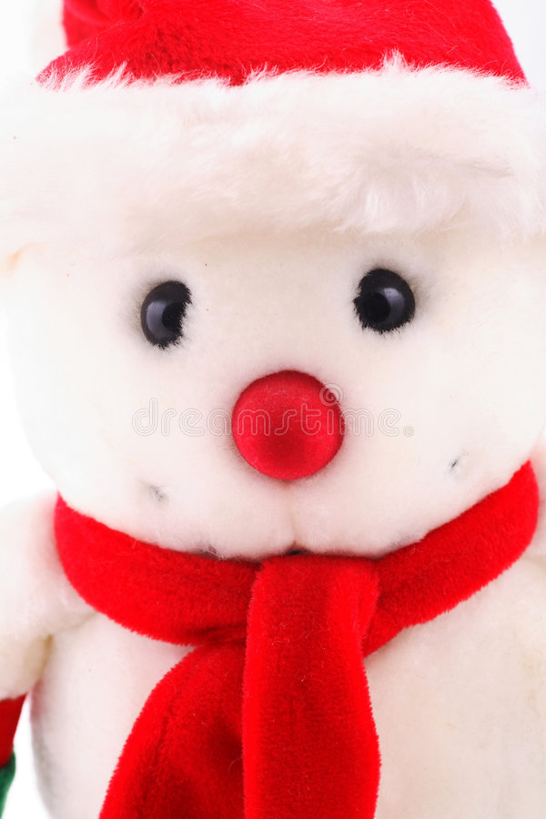 Snowman in close up stock image