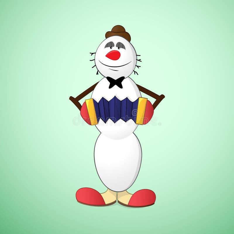 Snowman clown stock illustration