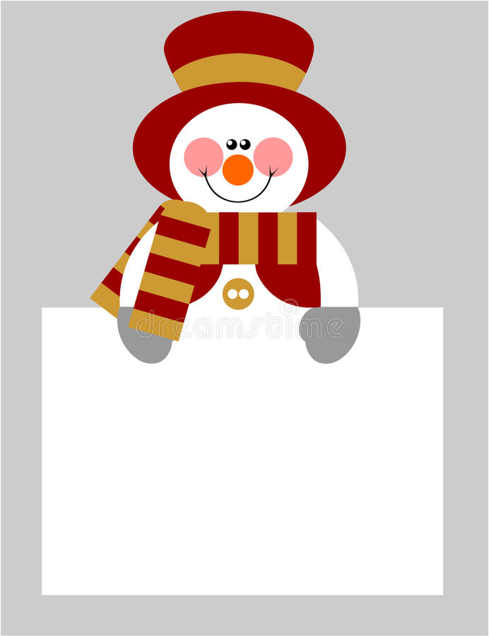 Free Snowman Color 04 Royalty Free Stock Photo - 11411535