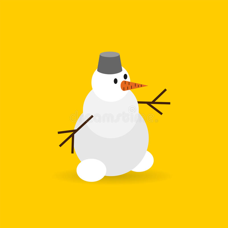 Snowman color vector flat icon stock images