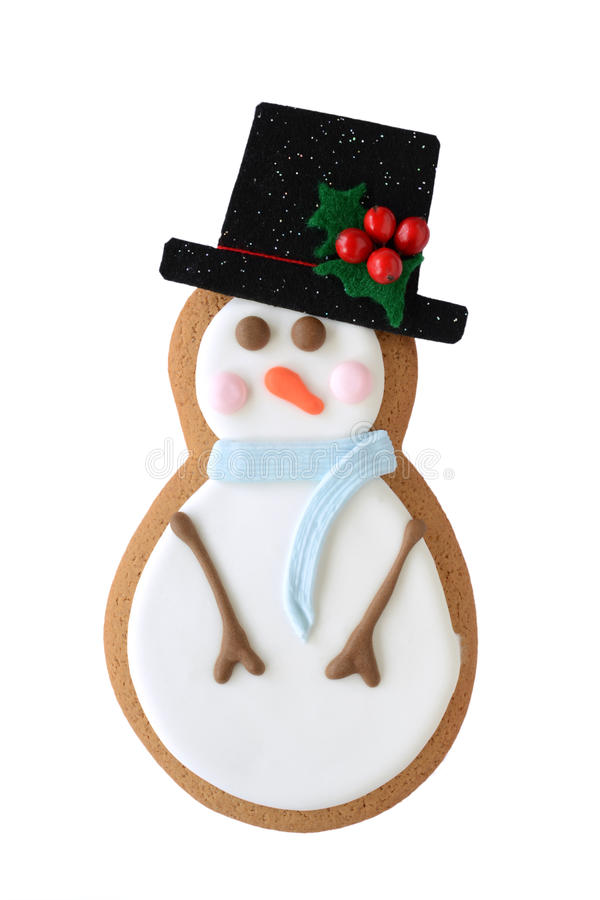 Download Snowman Cookie Isolated On White Stock Photo - Image: 27918916