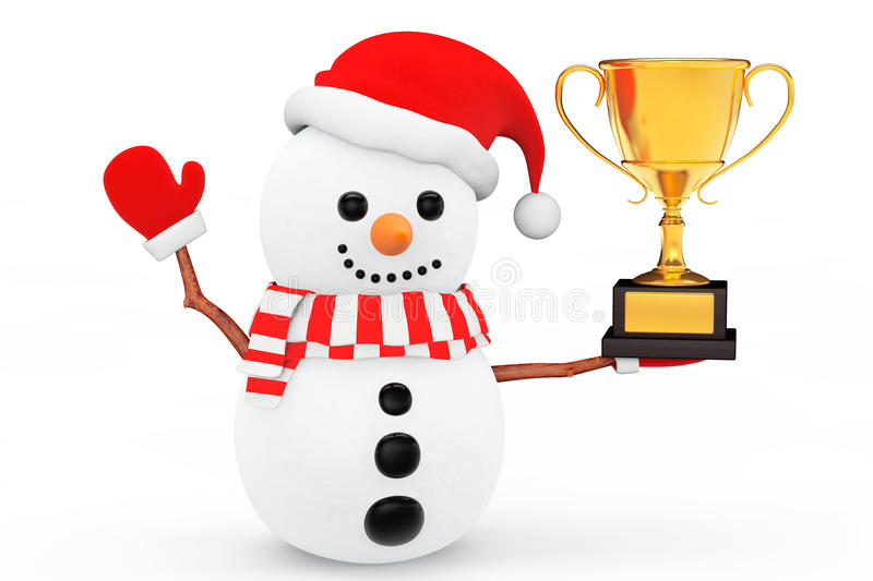 snowman-golden-trophy-white-background-6