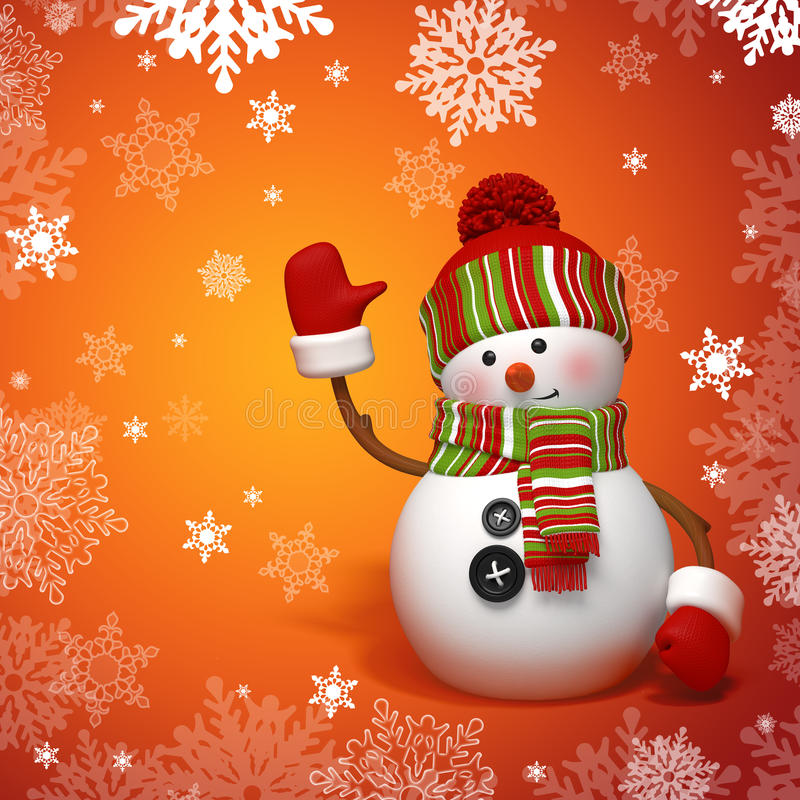 Download Snowman Greeting Royalty Free Stock Image - Image: 27297836
