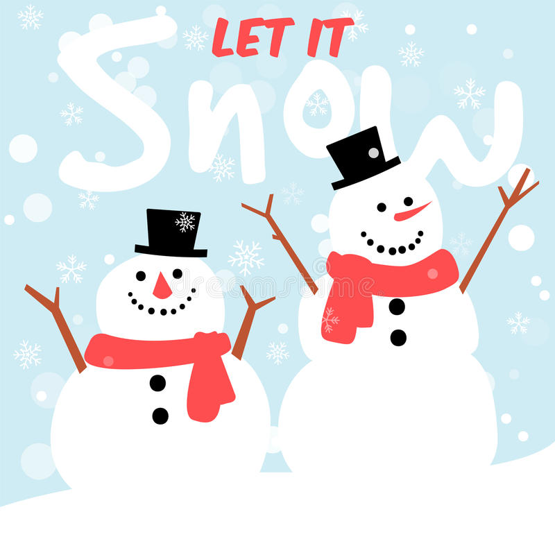 Snowman greeting card merry christmas and happy new year