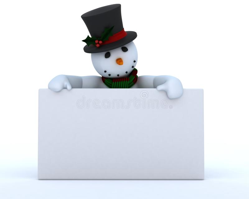 Download Snowman In Hat And Scarf Royalty Free Stock Photography - Image: 22178307