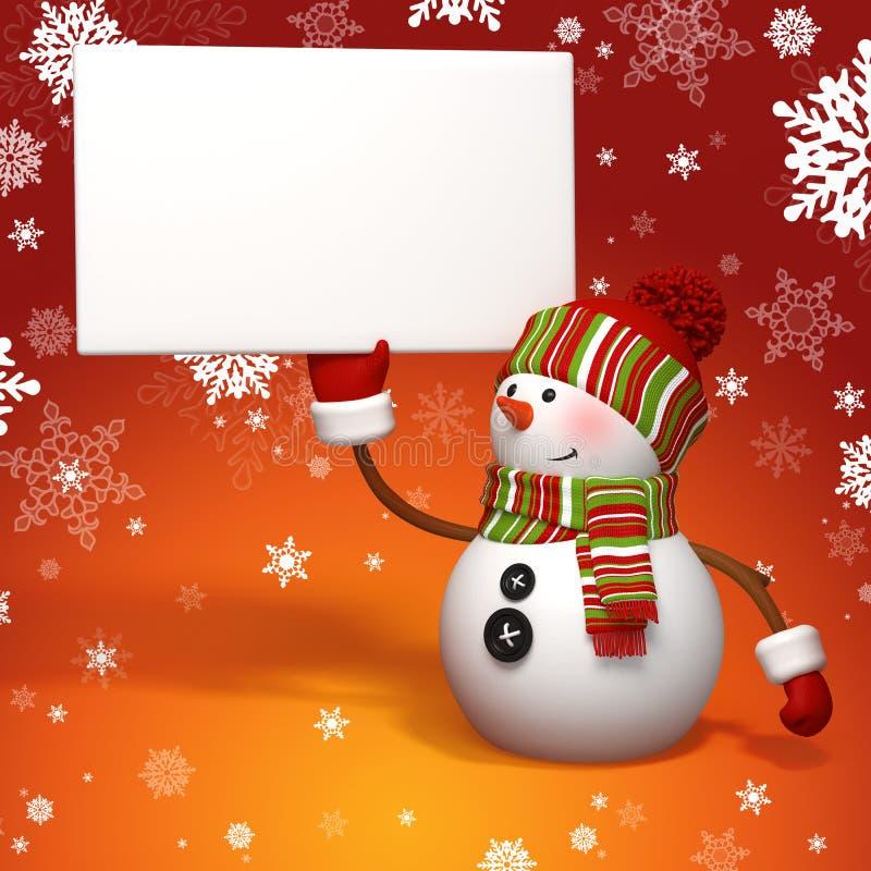 Download Snowman holding banner stock illustration. Illustration of clothing - 27297846