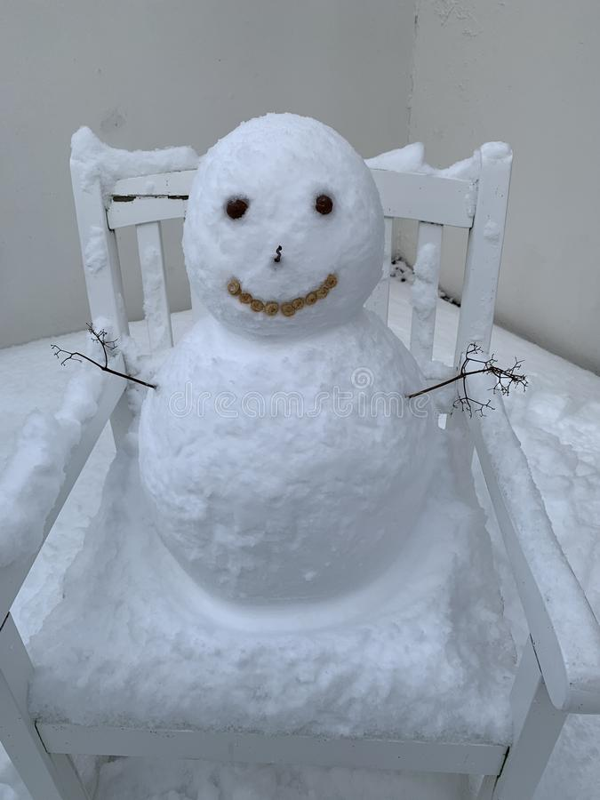 Snowman in Iceland royalty free stock photo