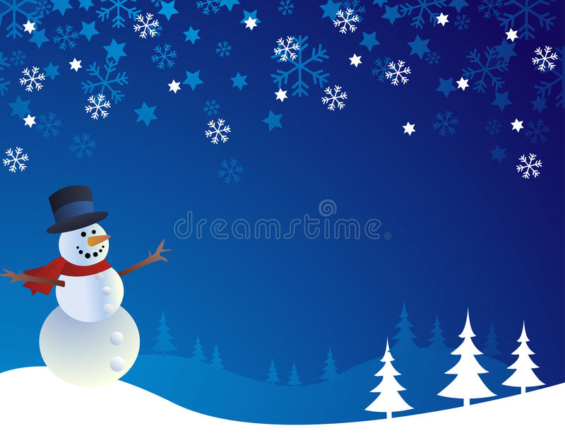 Download Snowman,  illustration stock vector. Illustration of cold - 16885351