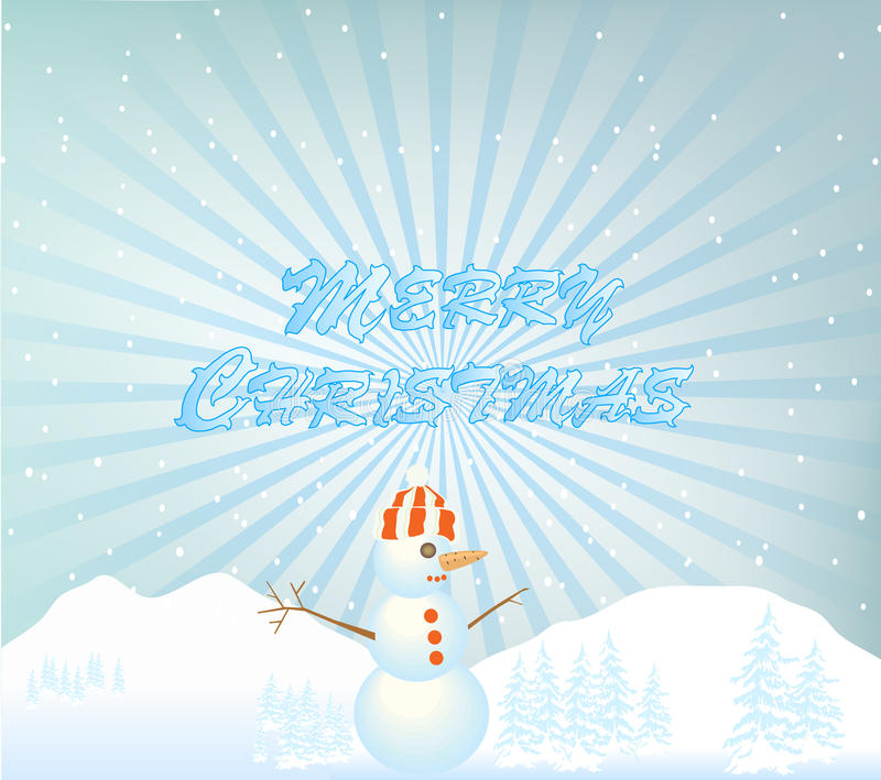 Download Snowman illustration stock vector. Image of december - 17337399