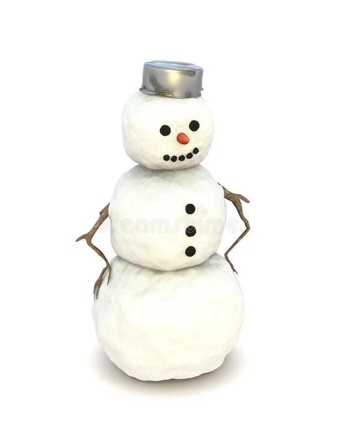 Download Snowman isolated stock illustration. Image of dent, hips - 12381421