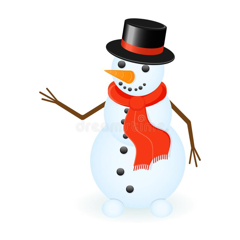 Snowman Isolated on white royalty free illustration
