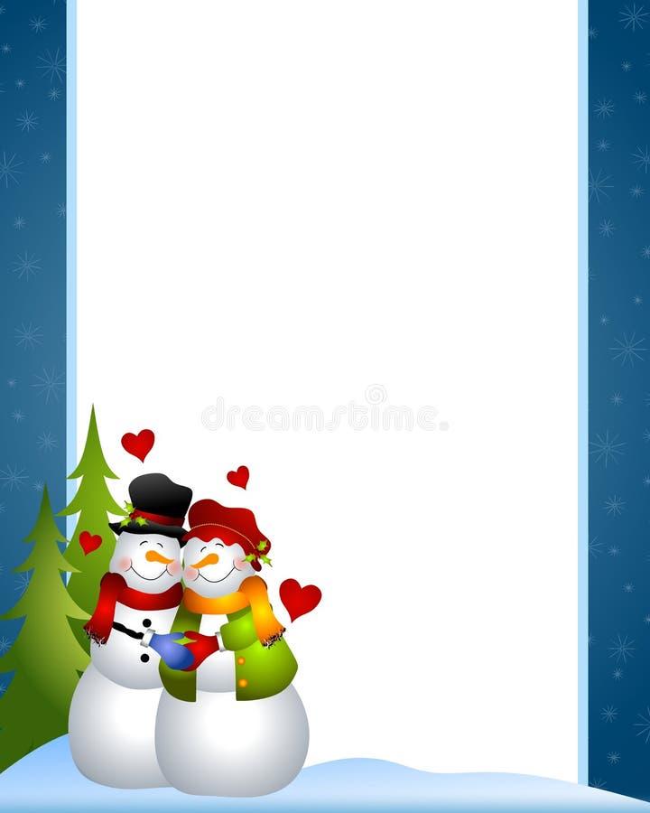 Download Snowman Love Border stock illustration. Image of huddling - 6927965