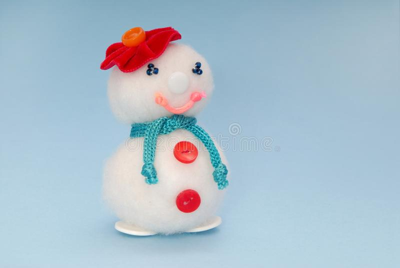 Snowman is made out of syntepon. stock photography