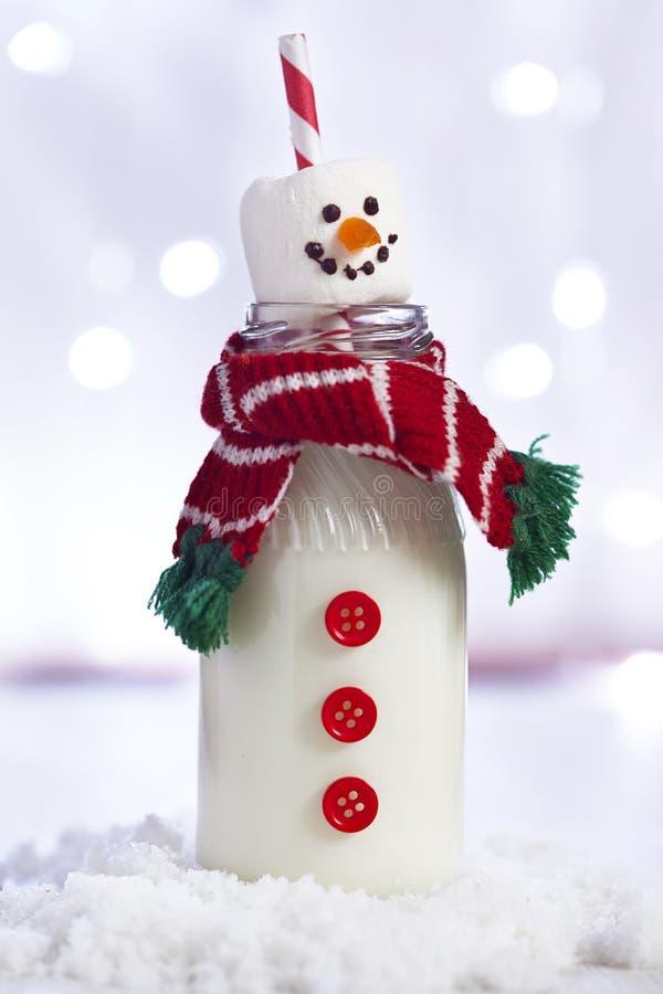 Snowman milk bottle. See my other works in portfolio stock image