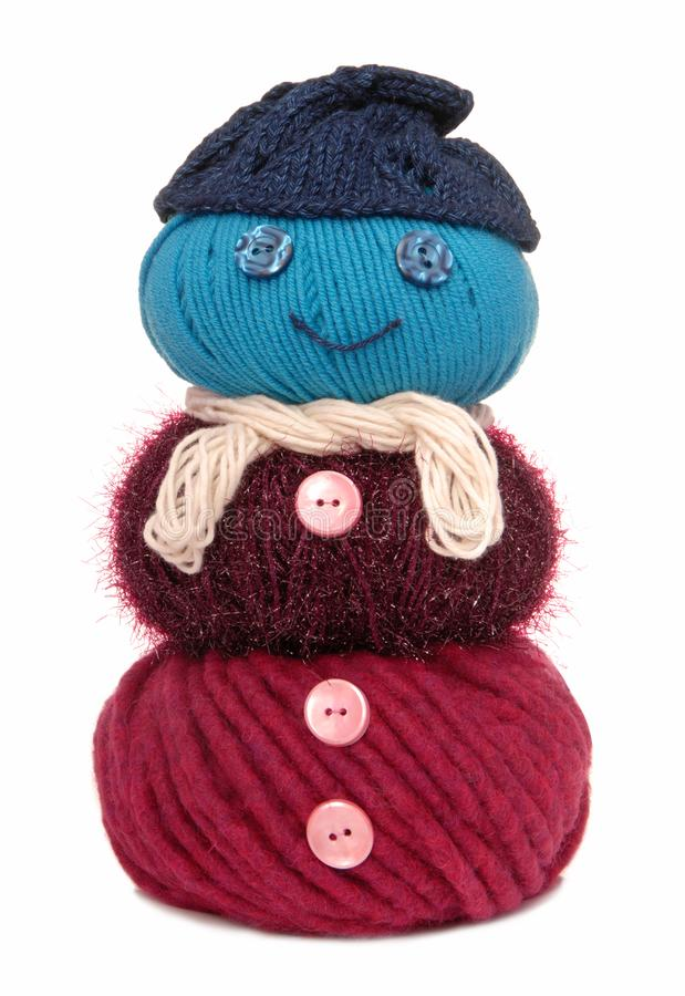 Snowman is out of yarn stock photography