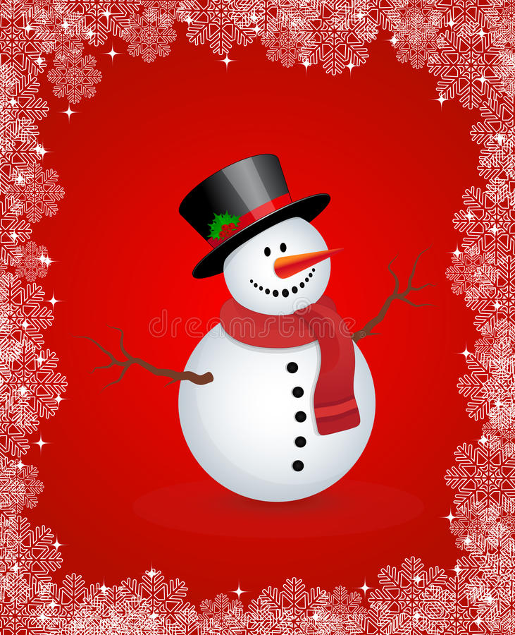 Download Snowman stock vector. Image of happiness, night, claus - 33864528
