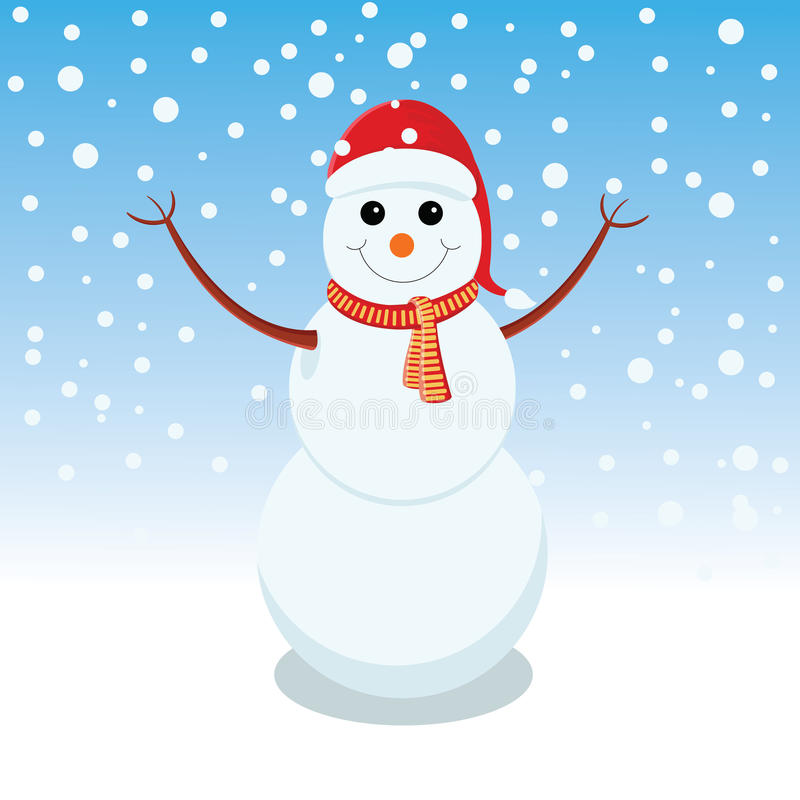 Snowman is representing merry christmas. Snowman is showing happy holidays stock illustration
