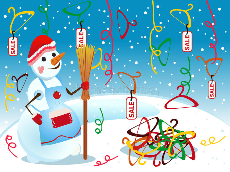 Download Snowman and sale stock vector. Image of cool, marketing - 11944733