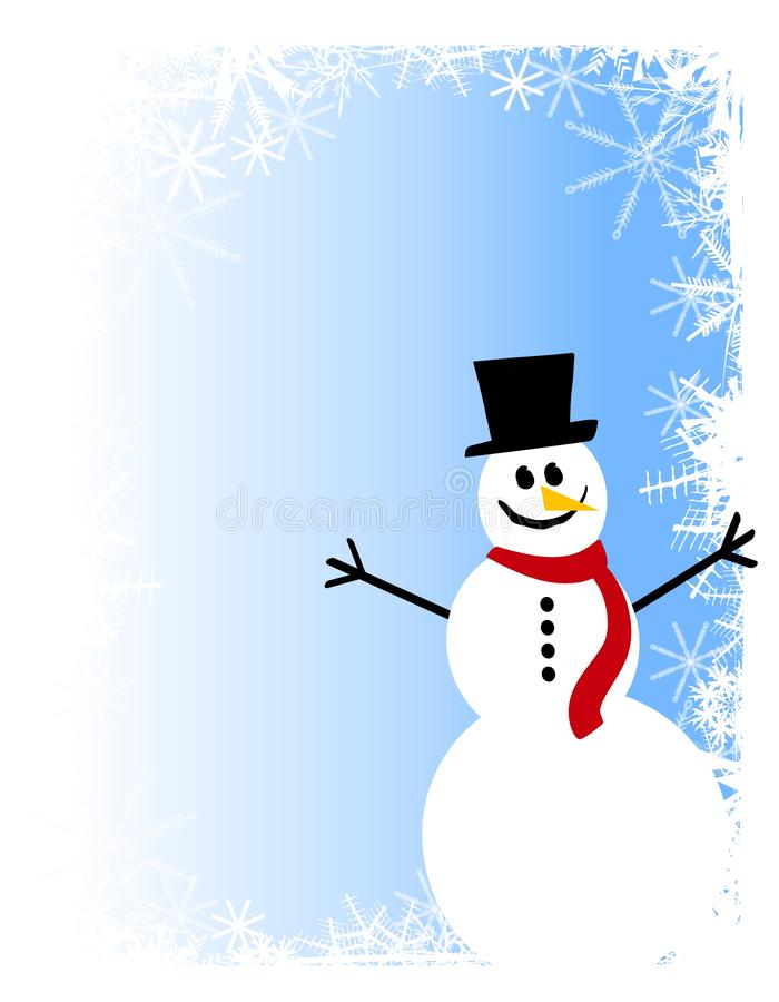 Snowman Scene Background 2 royalty free stock photos
