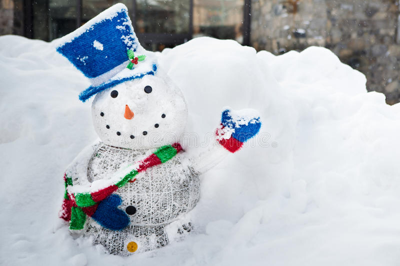 Snowman with a smile