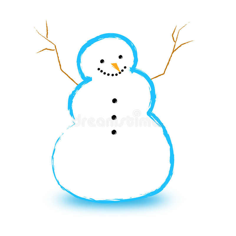 Download Snowman / snowmen stock illustration. Image of playing - 6400845