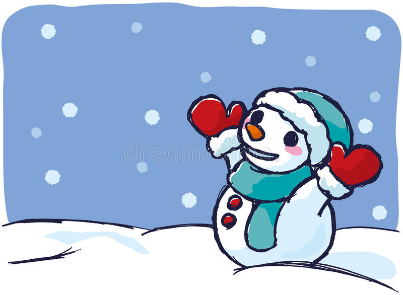snowman on a snowy day stock vector illustration of snow 29506431 rh dreamstime com snow clip art moving snow clipart