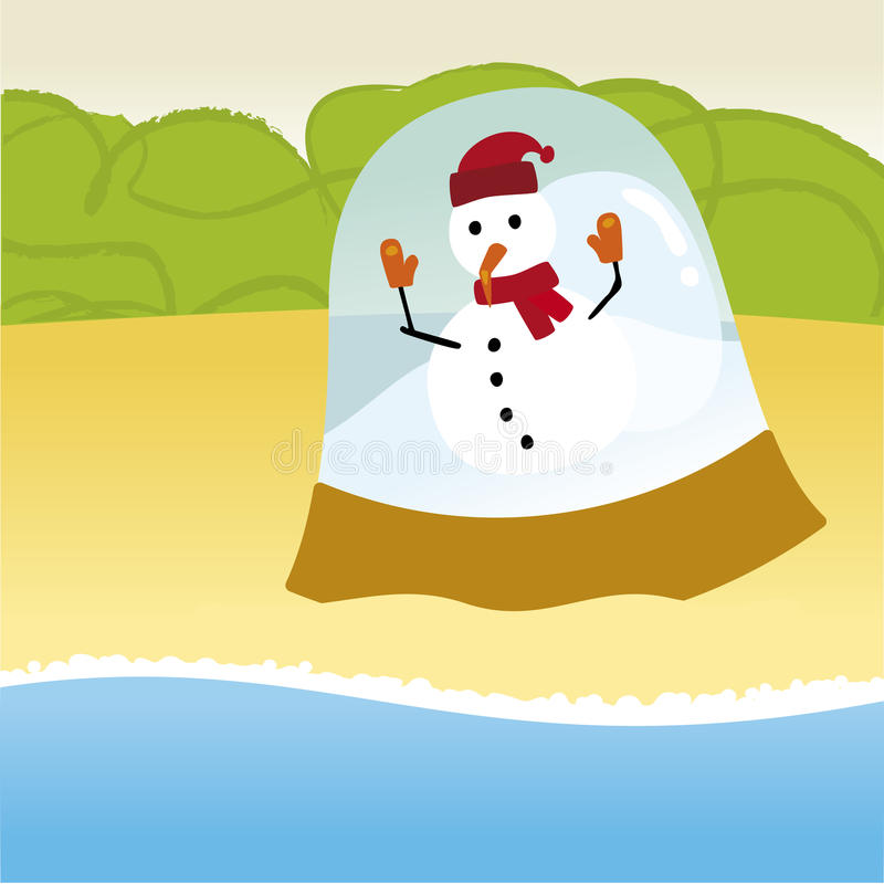 Download Snowman summer stock vector. Illustration of sand, cartoon - 21315247
