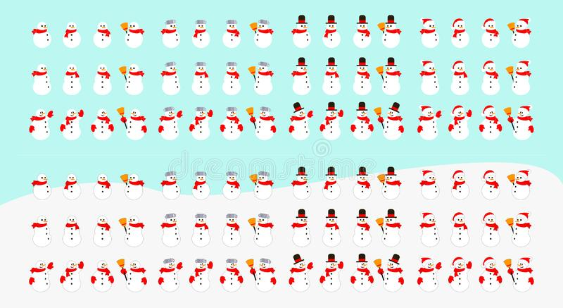 Snowman vector collection vector illustration