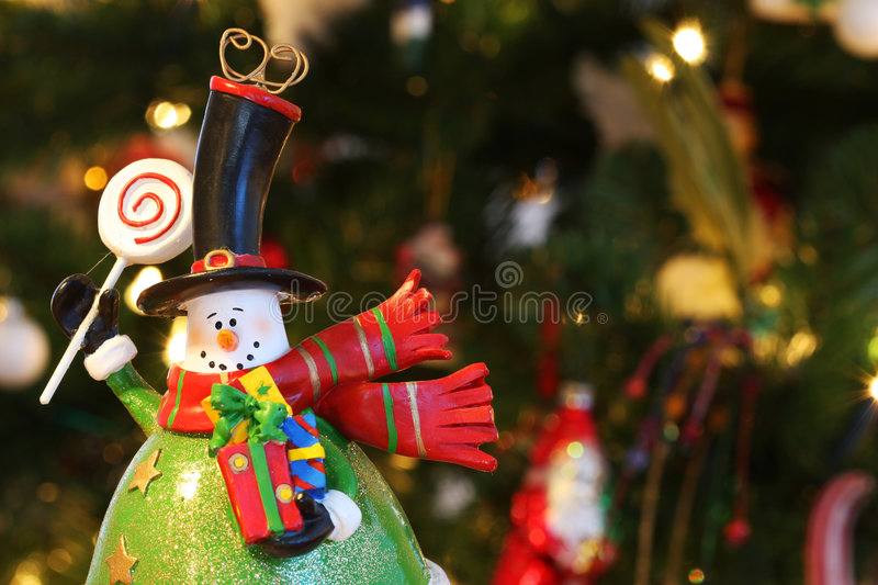Download Snowman waving stock image. Image of winter, gifts, presents - 5975015