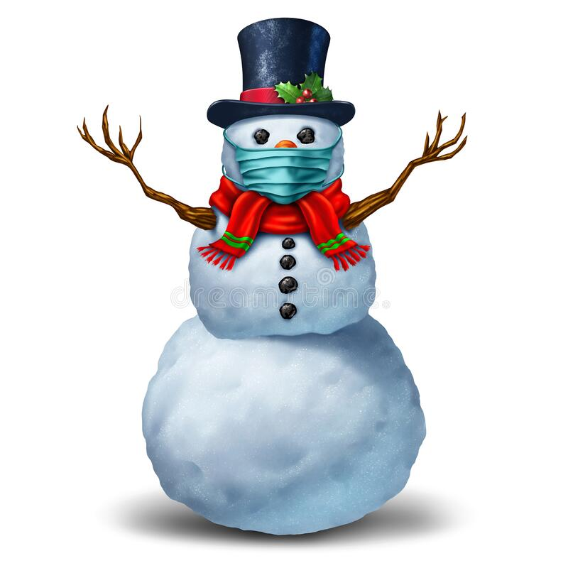 Free Snowman Wearing A Mask Royalty Free Stock Images - 193133719