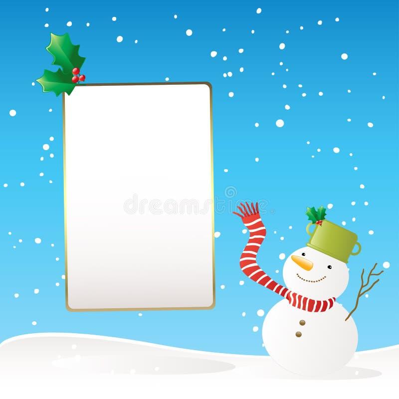 Snowman winter banner