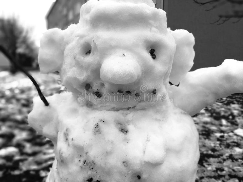 Download Snowmann stock image. Image of snowmann, scarry, build - 109451225