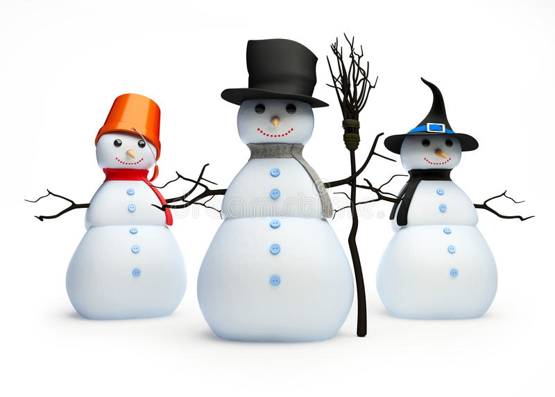 Snowmans royalty-vrije illustratie