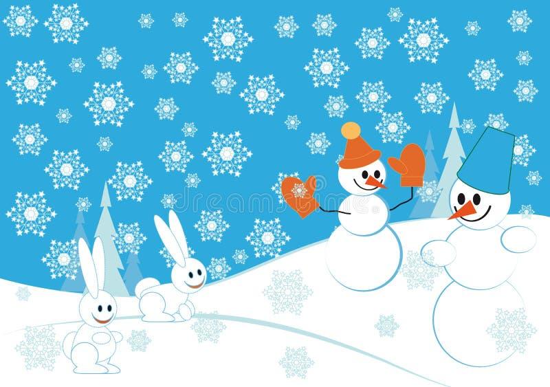 Snowmans illustration de vecteur