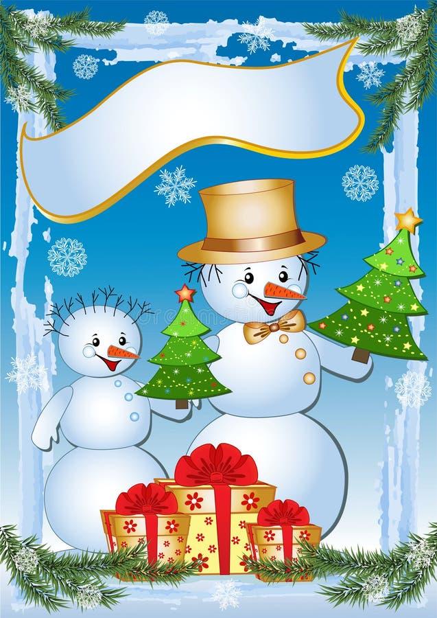 Snowmans drôles. illustration stock